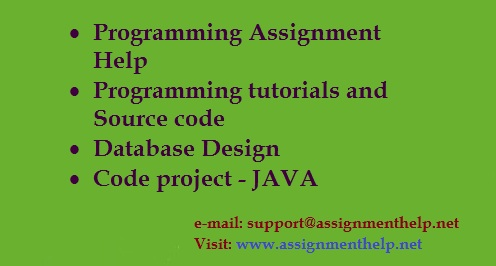 need help with java programming assignment My computer science homework whether it is a programming project/assignment in c++/java or a written help all you need to do is to upload your.