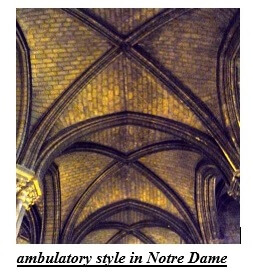 ambulatory style in Notre Dame