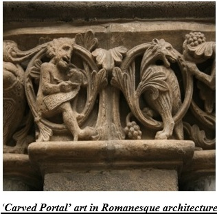 Carved Portal art in Romanesque architecture