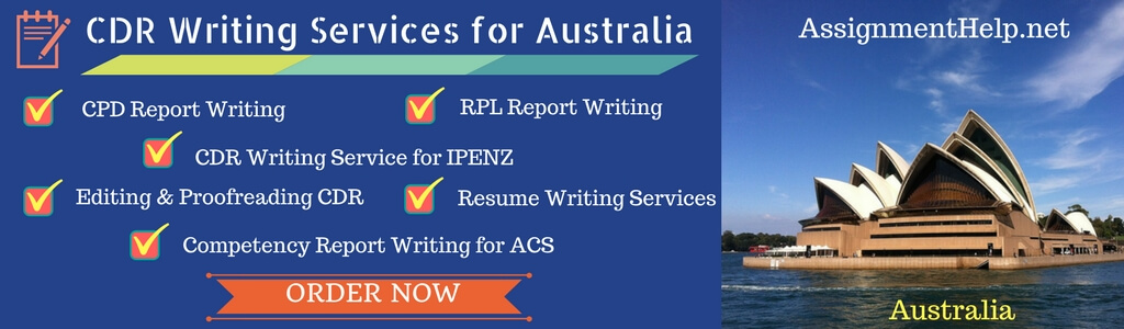 CDR Writing Help by Australian Expert