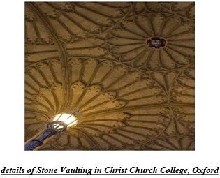details of Stone Vaulting in Christ Church College, Oxford