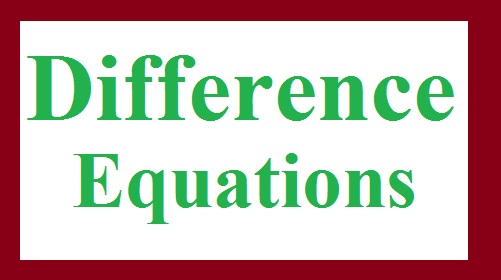 Difference Equations Assignment Help