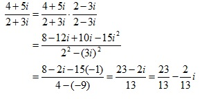 Dividing by a complex number