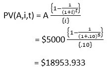 Annuity and Perpetuity formula 2