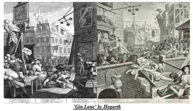 Gin Lane by Hogarth
