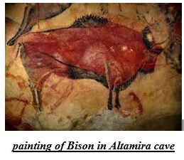 painting of Bison in Altamira