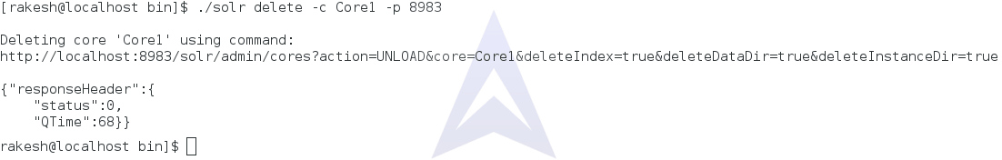 Deleting Solr Core