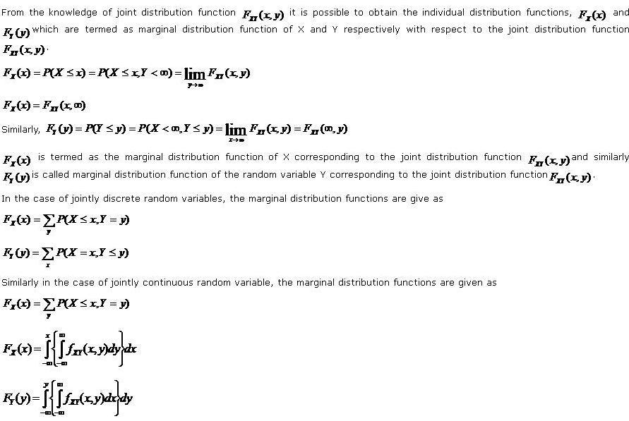 marginal distribution functions