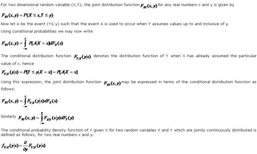 the conditional distribution function