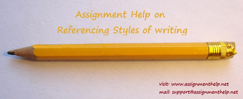 Referencing styles of writing
