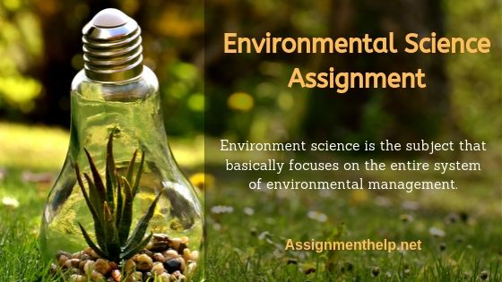 environmental science assignment