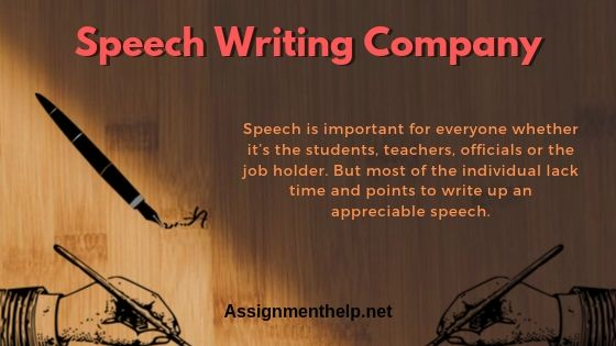 speech writing company
