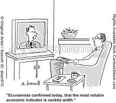 Tie shrinks in width as the economy shrinks