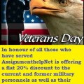 Veterans day 2014 discount on homework help