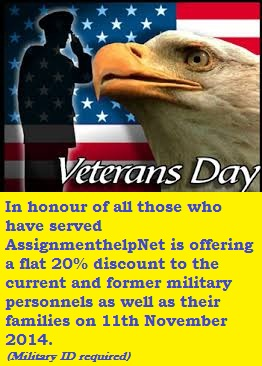 Veterans day 2014 discount on homework help