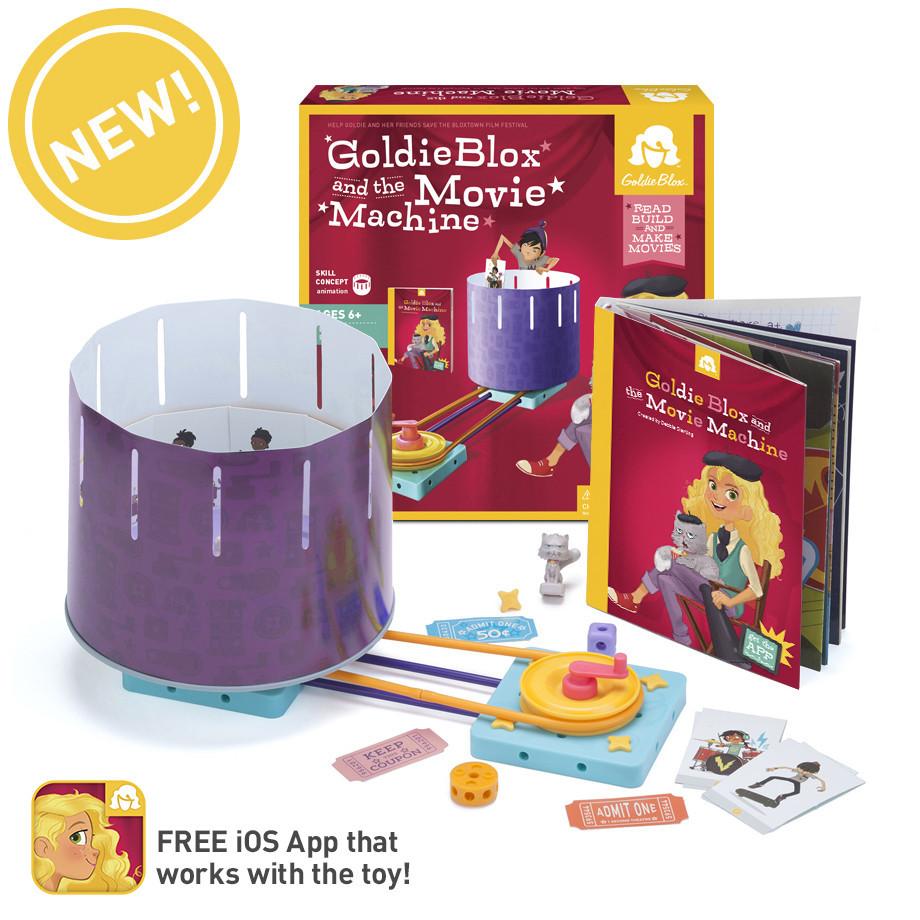 STEM toys for girls Goldieblox movie machine app
