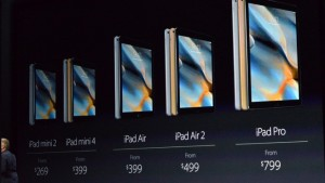 iPad Pro iPad Air 2 iPad Mini 4 price