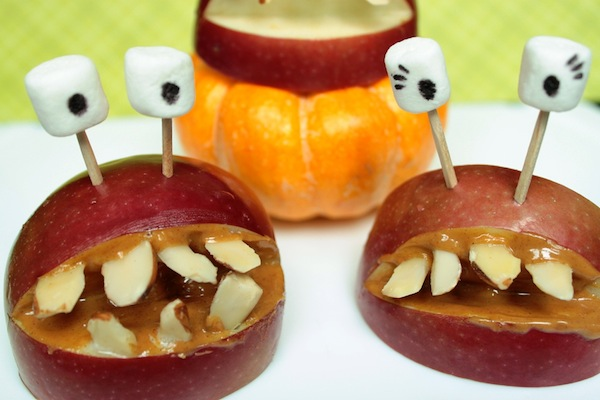 halloween apple smiles