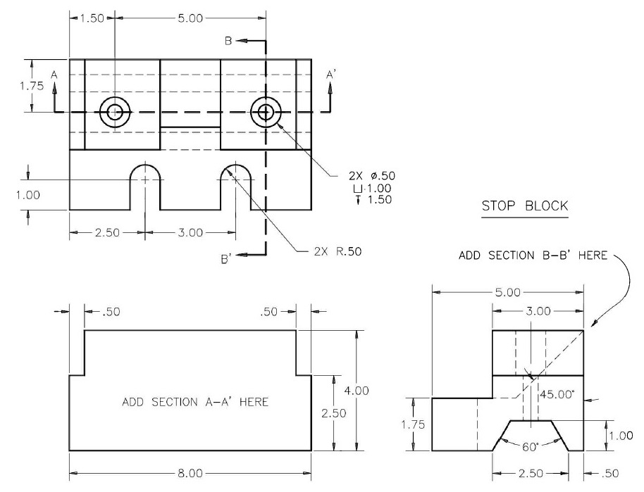 AutoCAD Sample Assignment Image 1