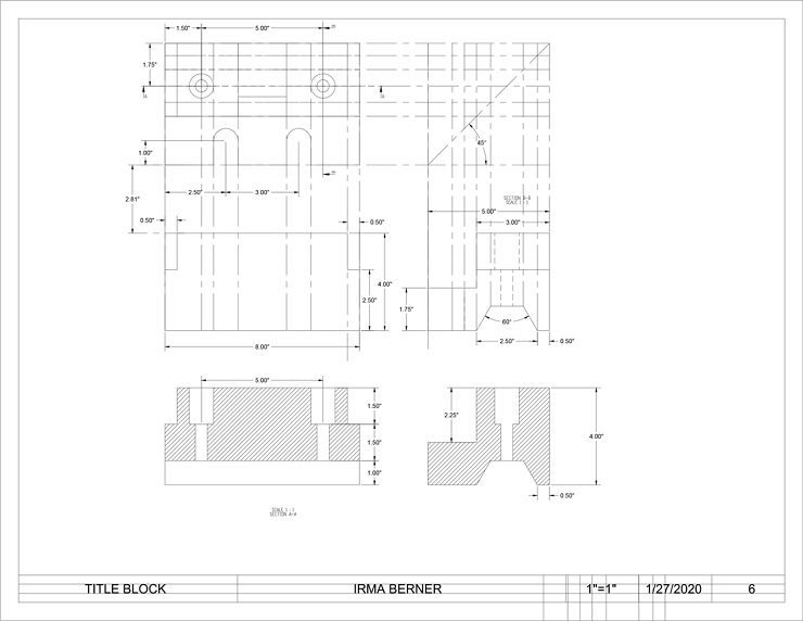 AutoCAD Sample Assignment Image 2