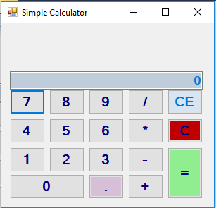 Calculator in C Sharp