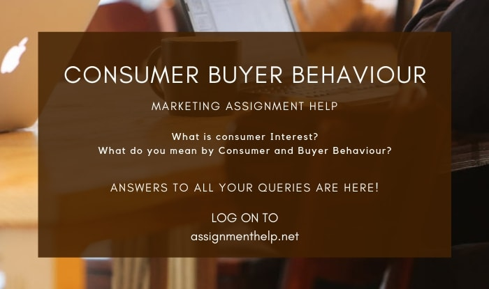 Consumer and Buyer Behaviour