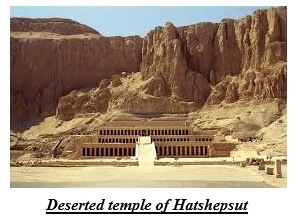 Deserted temple of Hatshepsut