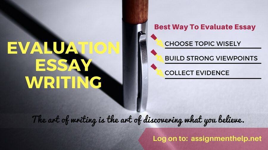 Evaluation Essay Writing