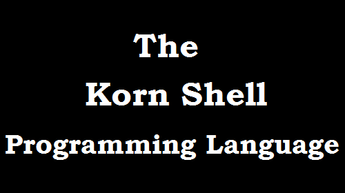 korn shell programming