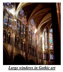 Large windows in Gothic art