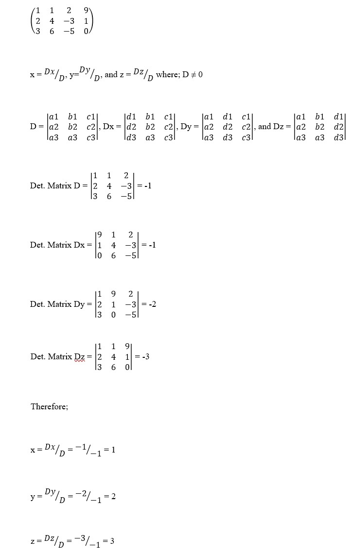 Matrices Assignment Image 3