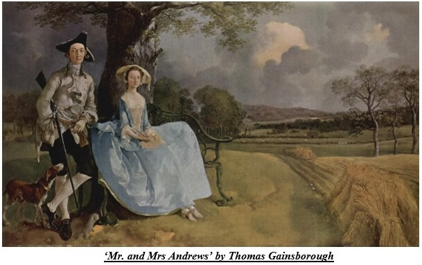 Mr. and Mrs Andrews by Thomas Gainsborough
