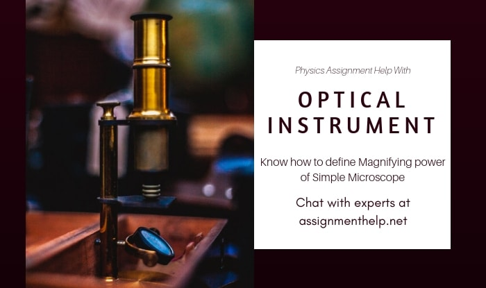 Optical Instrument Assignment Help