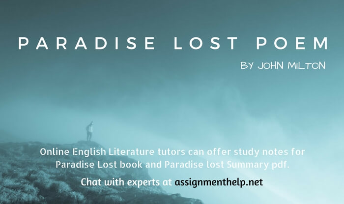 Paradise Lost Poem by John Milton