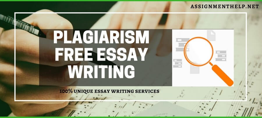 Plagiarism Free Essay Writing