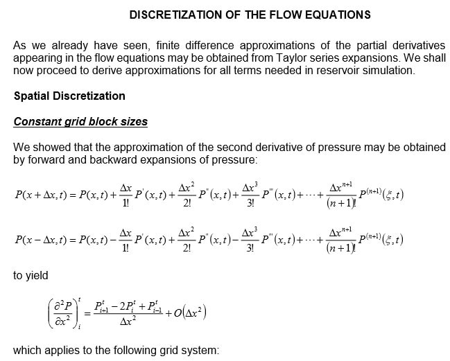 Discretization of the flow equations Image 1