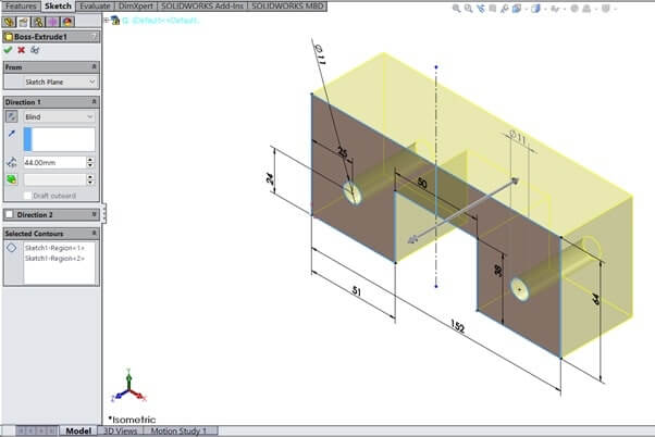 SolidWorks Sample Assignment Image 5