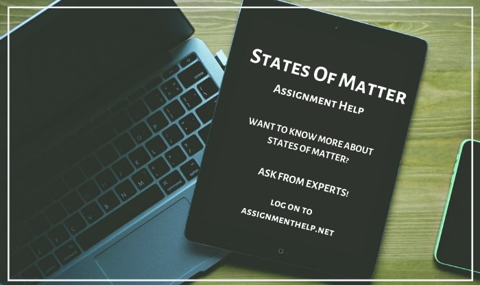 states of matter assignment help