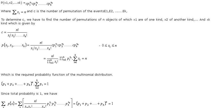 multinomial distribution
