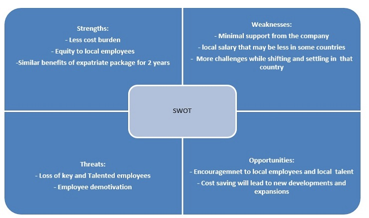 SWOT analysis of the local international policy